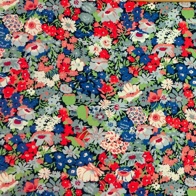 Coton Liberty THORPE Rouge - Mercerine.com