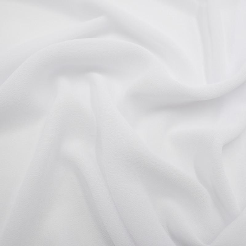 Voile crêpe blanc