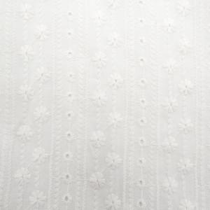 Broderie Anglaise guirlande de fleurs Double Feston Blanc