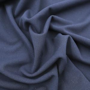 Crêpe jersey extensible bleu