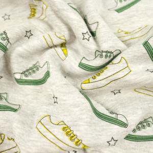 Sweat Envers Doudou gris chiné Petites baskets