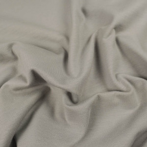 Jersey coton gris craie  Oekotex Kate