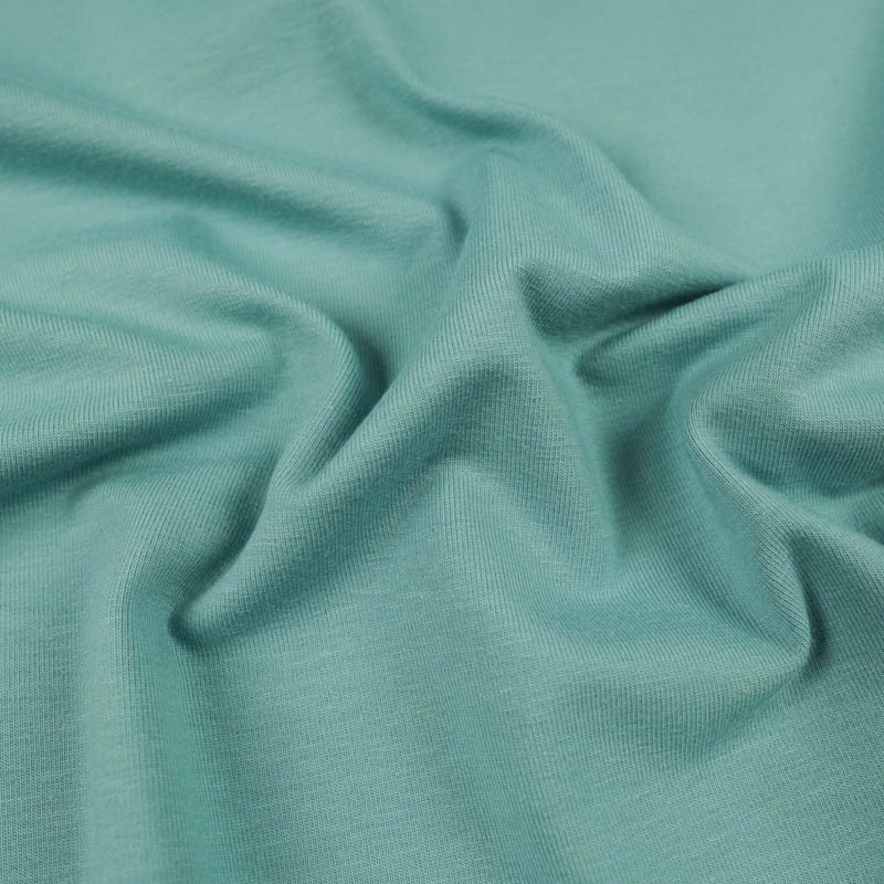 Jersey coton Bleu Tourmaline Oekotex Kate