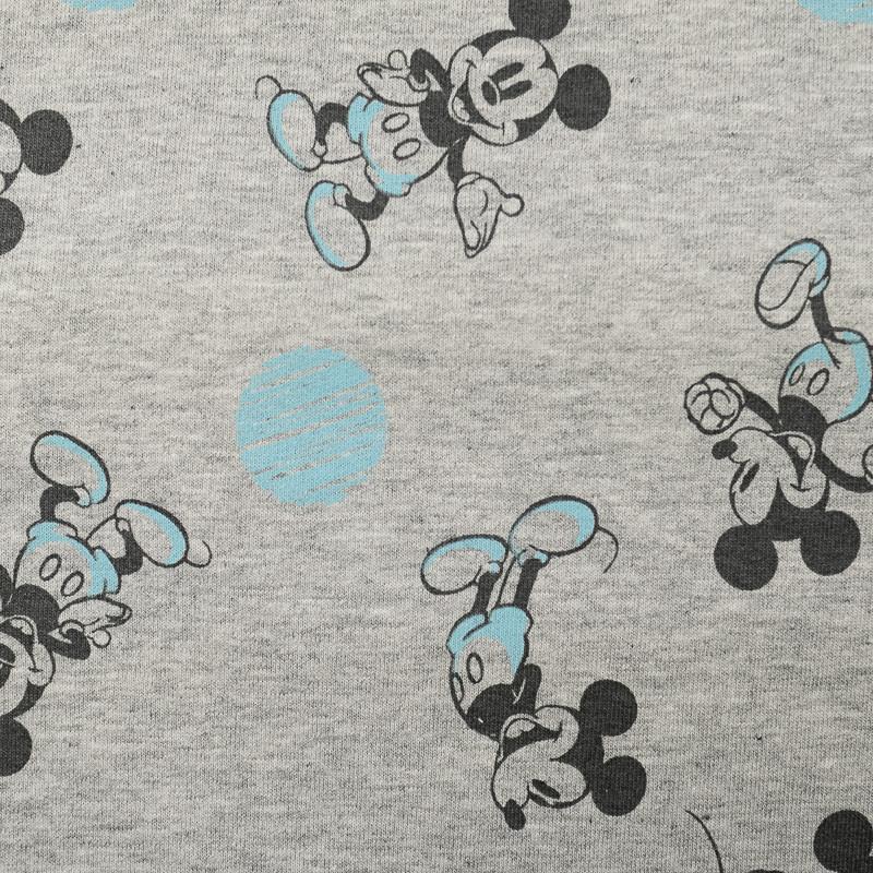 Jersey de coton gris Mickey et pois