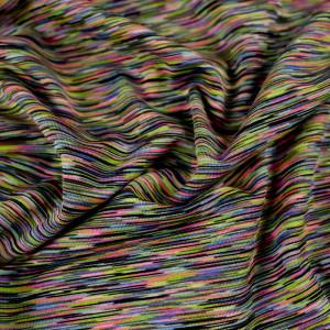 Tissu sport technique multicolore traits