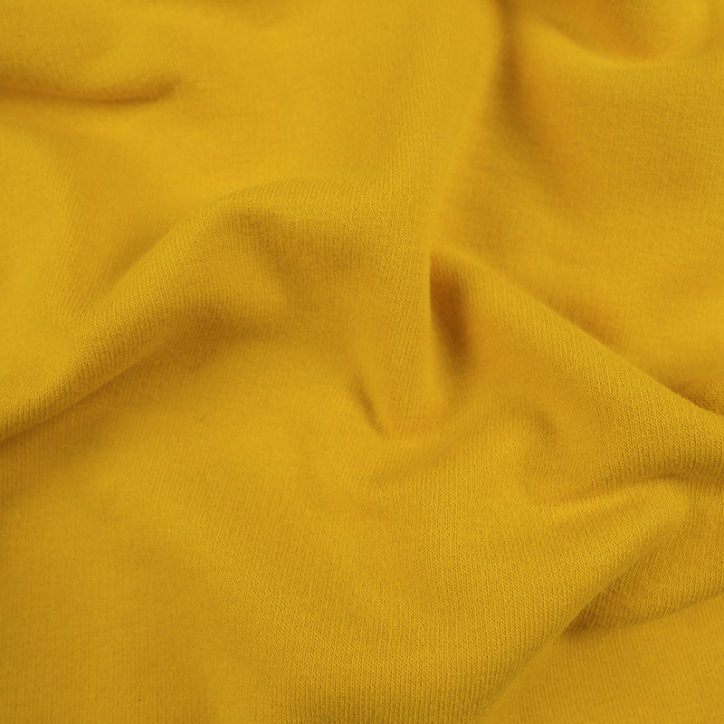 Jersey molleton Jaune- sweat fin bio