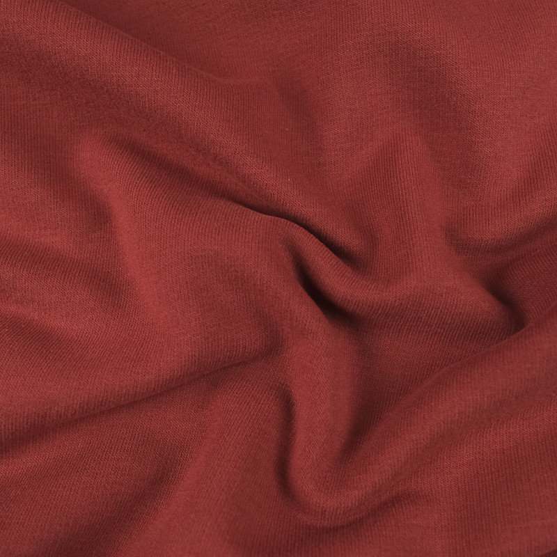 Jersey molleton rouge - Sweat fin Bio Oekotex