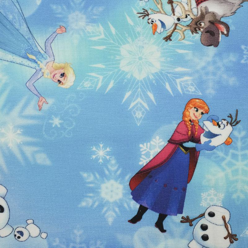 Jersey de coton bleu Reine des neiges