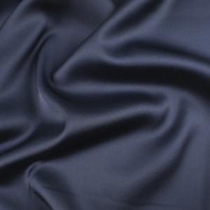 Tissu satin bleu nuit léger Gala