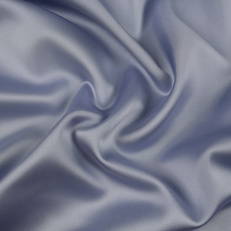 Tissu satin gris bleuté Ciara