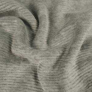Velours cotelé  gris Oekotex Kate