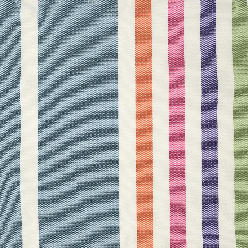 Toile transat  anti UV bleu rayures multicolores