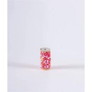 Biais Fleurs des iles rose - Petit Pan