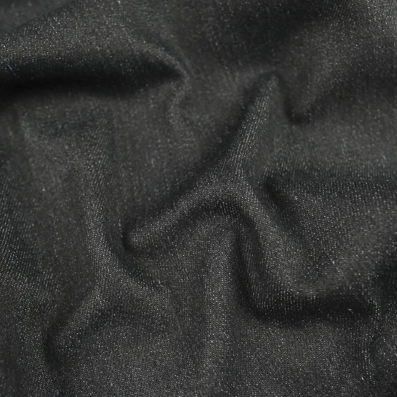 Tissu  Blue Jeans noir chiné Brady