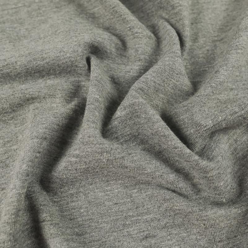 Jersey gris chiné Oekotex Coton Lise