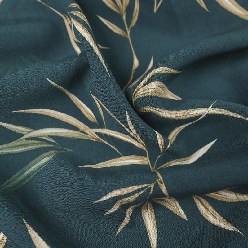 Viscose bleue feuilles de cocotier -100% Francaise