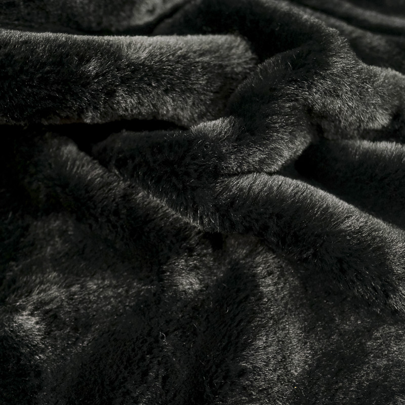 Fausse Fourrure noire épaisse