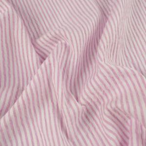 Coton Seersucker rose à rayures