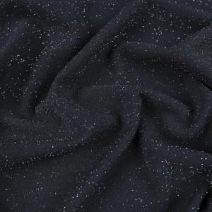 Crepe Jersey lurex fin bleu marine scintillant