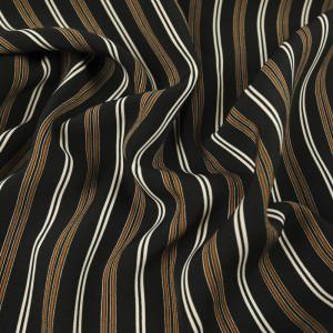 Tissu noir à rayures