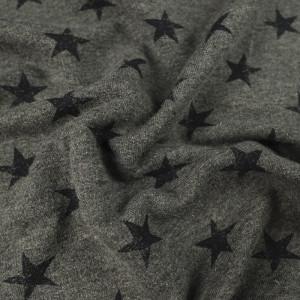 Jersey coton gris Etoiles