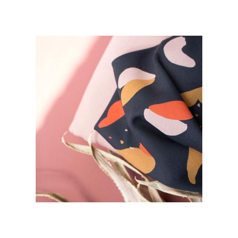 Tissu Atelier Brunette : Viscose Oasis Night  -  Mercerine