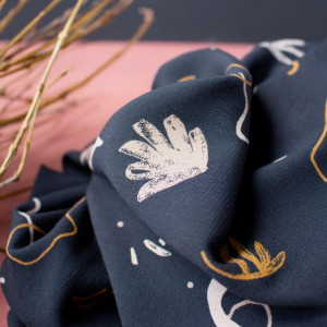 Tissu Atelier Brunette : Viscose Sandstorm Night -  Mercerine