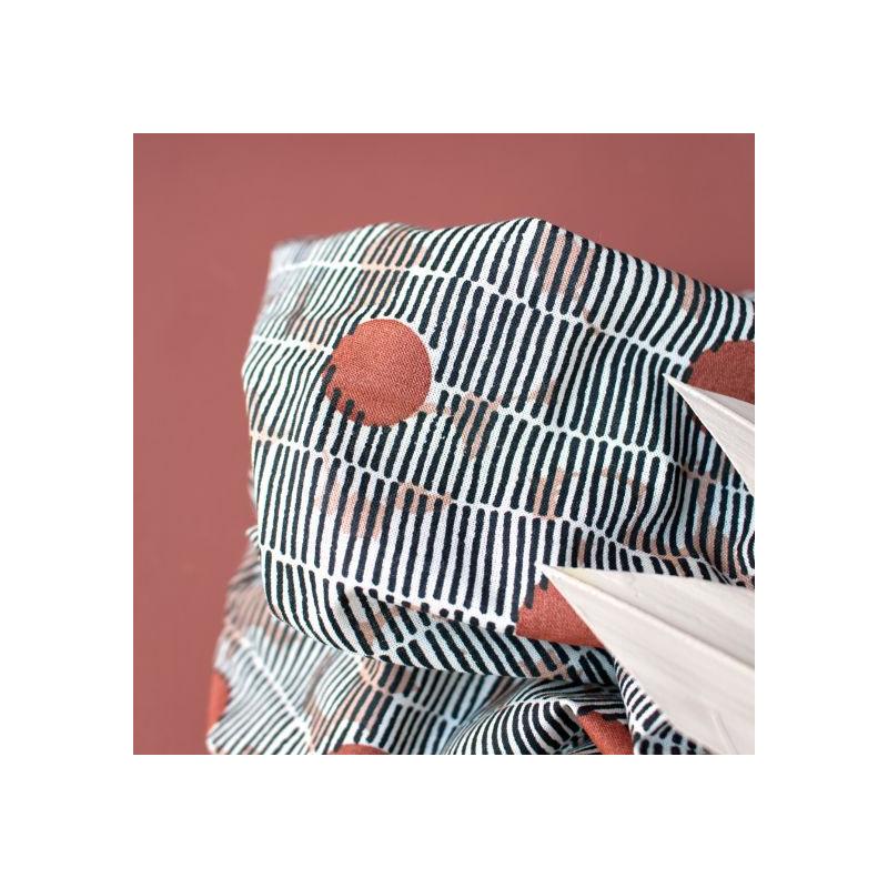 Tissu Atelier Brunette : Atelier Brunette Gaze de coton Mirage Chestnut -  Mercerine