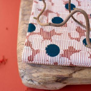 Tissu Atelier Brunette : Atelier Brunette Gaze de coton Mirage Forest -  Mercerine