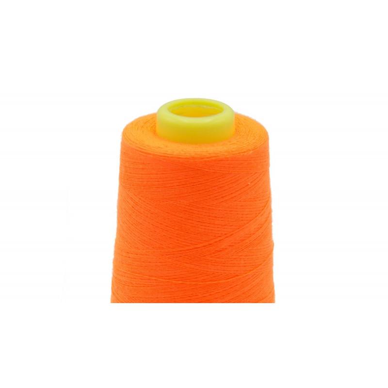 Mercerie en ligne : Fil Fluo Orange surjeteuse -  Mercerine