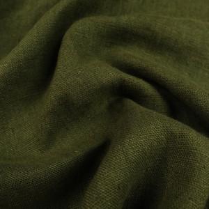 Tissu Lin Lavé Kaki ameublement - 10 cm