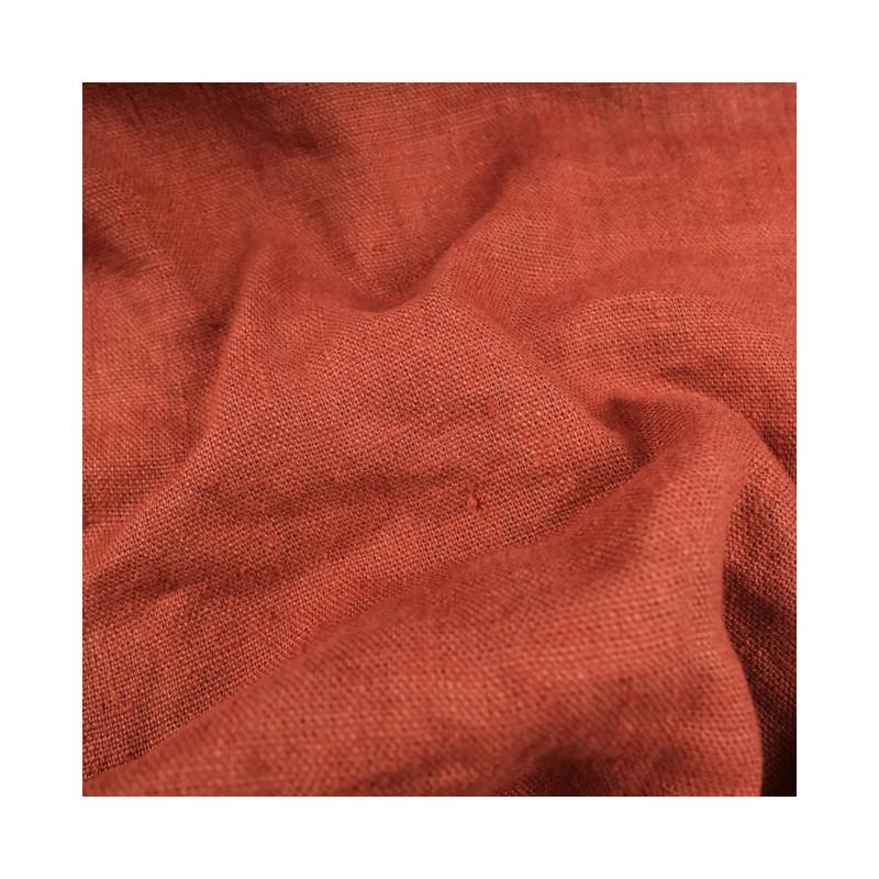 Tissu Lin Lavé Bruschetta ameublement - 10 cm