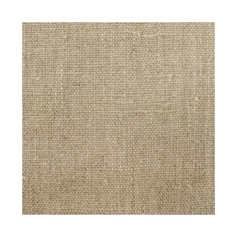 Tissu Lin lavé naturel - par 10cm ameublement - Mercerine