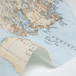 Tissu carte mappemonde