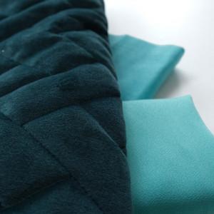 Tissu bleu vert
