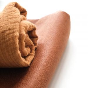 Tissu marron